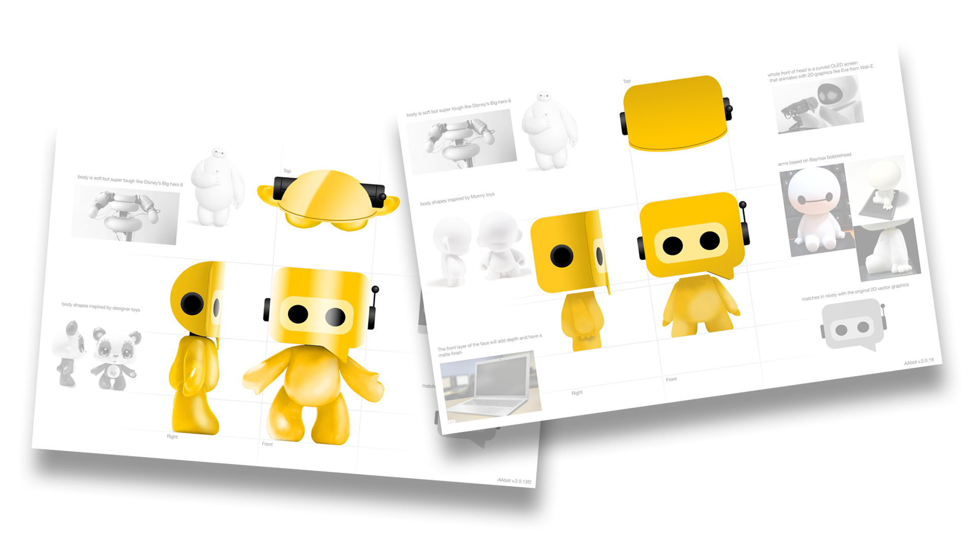 Development of the Bot character from 2D to 3D with body