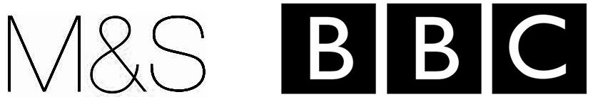 Marks and Spencer logo and BBC logo