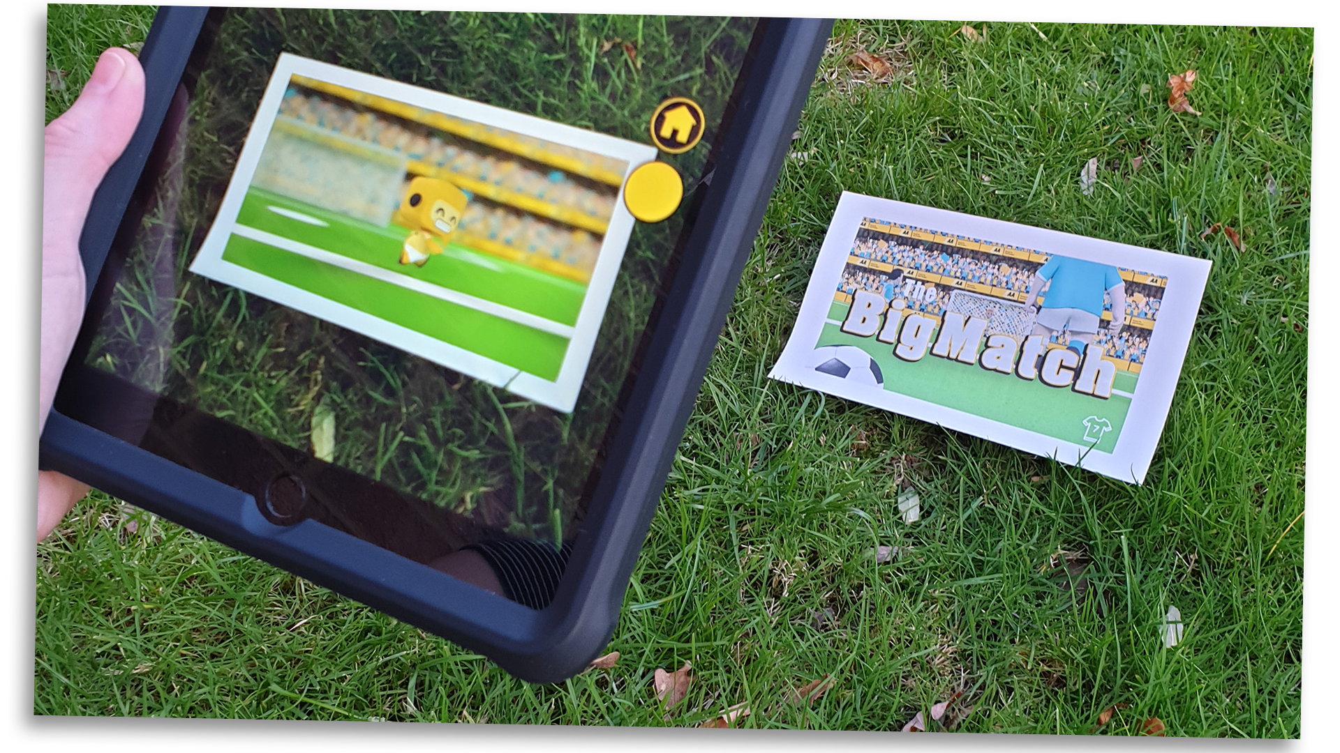 Marker based augmented reality in action