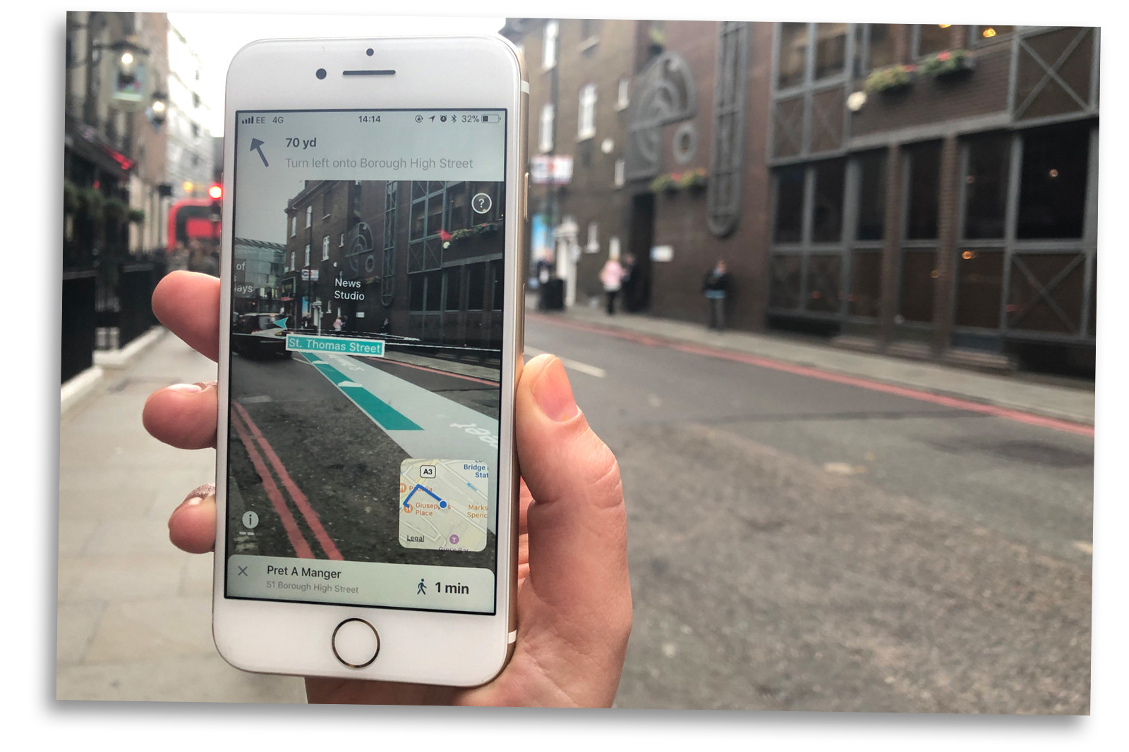 augmented reality navigation app